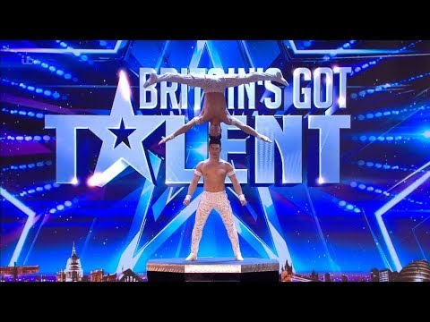 Britains Got Talent 2018 Giang Brothers Masterful Balancing Act Full Audition S12E02 Video Clip
