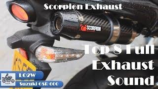 Top 8 Full Exhaust Sound Suzuki GSR 600 / LeoVince,  Arrow,  Yoshimura, Scorpion, Devil...