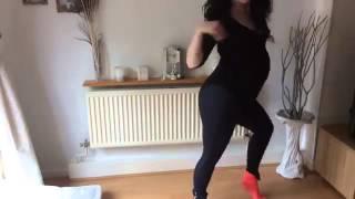 pregnant woman falls over