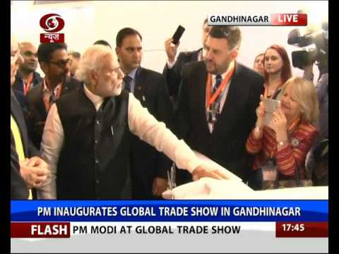 watch PM Narendra Modi inaugurates Global Trade Show in Gandhinagar, Gujarat