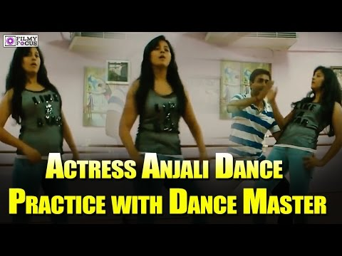 Actress Anjali Dance Practice with Dance Master  Viral Video