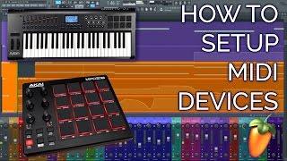 How To Setup A MIDI Controller (Keyboard or Drumpad) FL STUDIO 12 Basics