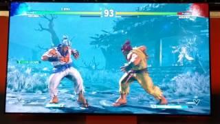 LPN (@Circa_LPN) playing Akuma in street fighter v at Playstation experience