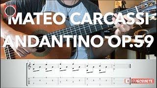 "Como tocar ""Andantino op.59"" de Mateo Carcassi (TAB y partitura) guitarbn"