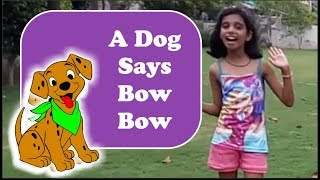 A Dog Says Bow Bow with Actions | Nursery Rhymes Songs with Lyrics
