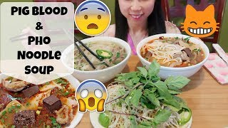 Eat Pig Blood & Pho Noodle Soup with American Fiance | Vietnamese Food
