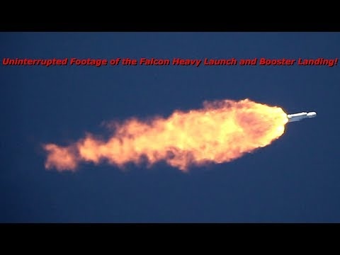 Xxx Mp4 Uninterrupted Footage Of The Falcon Heavy Launch And Booster Landing 2 6 18 3gp Sex