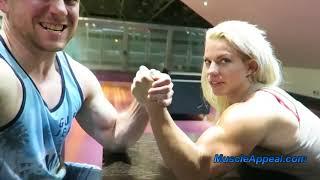 power girl & arm wrestling