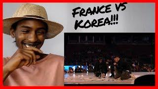 K.O.D World Cup 2016 Final Hip Hop KOREA/FRANCE - Les Twins, Waydi, Boubou - Criminalz Crew Reaction