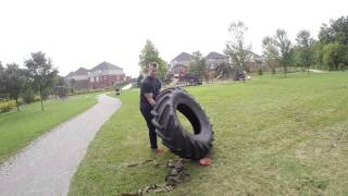 Tractor Tire Total Body Workout! Head to Toe Fat Burner!