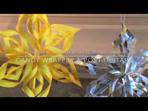 Xxx Mp4 DIY 3D Candy Wrapper Post It Paper Lace Star Snowflake Ornament Tutorial Harp Solo O Come Emmanuel 3gp Sex