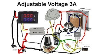 How to make Adjustable voltage by transformer 3A with transistor 2N3055