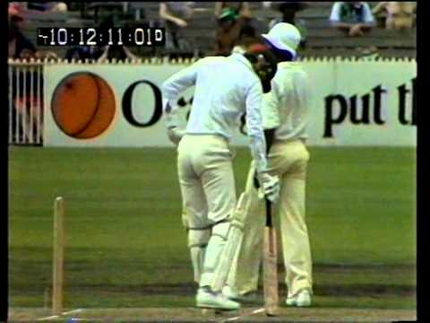 Classic fast bowling Joel Garner v Greg Chappell at MCG December 1979