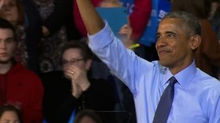 Obama tells story of famed chant: Fired up, ready to go