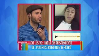 Brian Sarmiento habló sobre su video erótico y explicó por qué está triste
