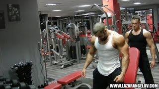 Lazar Angelov - Shoulders Workout With Slavi Goranchovski