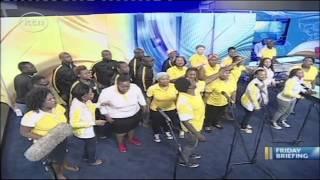 Joyous Celebration choir visits KTN Studios