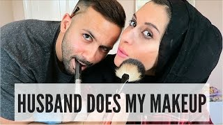 MY HUSBAND DOES MY MAKEUP TAG!