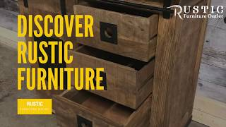 Small unique multi use rustic barn door storage cabinet - Rustic Furniture Outlet