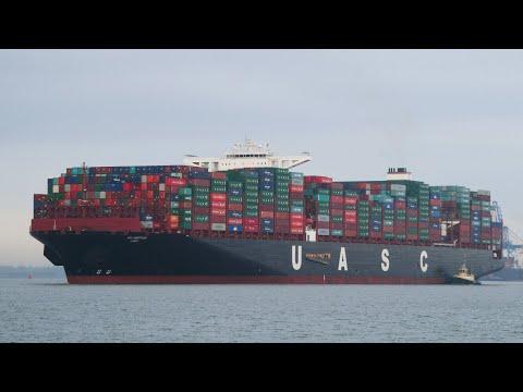 Xxx Mp4 AL NEFUD Ultra Large UASC Container Ship Departing Port Of Felixstowe 11 11 16 3gp Sex