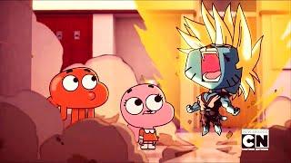 Gumball turns Super Saiyan!! (With Theme Song)