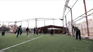 Syrie: le football redonne goût à la vie à des amputés de guerre