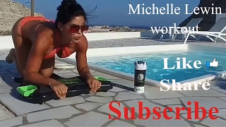 Michelle lewin hot workout | exercises with beauty