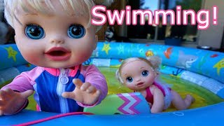 BABY ALIVE Naughty Audrey Swims With Layla! Baby Alive Videos