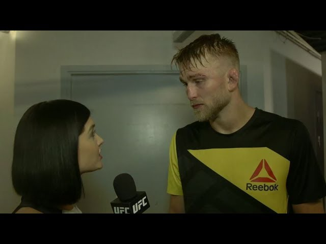 Fight Night Stockholm: Alexander Gustafsson Backstage Interview