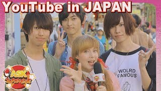 HOT YOUTUBERS IN JAPAN. Ask Japanese girls and boys what YouTube channels they watch