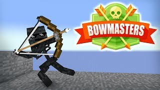 Monster School : BOWMASTERS GAME CHALLENGE - Minecraft Animation