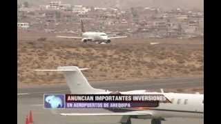 Inversiones muy mportantes se realizarán en el aeropuerto de Arequipa