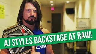 AJ Styles Backstage At Tonight's WWE Raw | Roman Reigns On Steroid Allegations