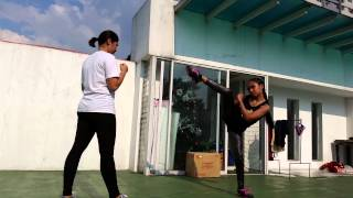 Women's Kickboxing Training ( JKD ) The Real and original Pabebe Girls Featuring Shania Visorio