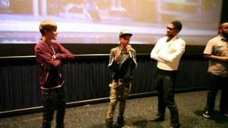 "Justin Bieber, Jaden Smith & Usher ""Never Say Never"" Theater Surprise"