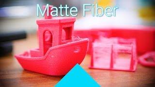 Proto-pasta's fluffy Matte Fiber filament review! #Filaween