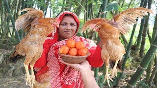 Country Chicken Gravy Recipe Prepared In My Village Traditional Chicken Curry By Deshi Food Channel