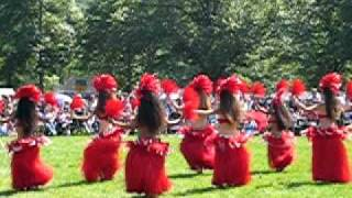 Polynesian Dancers at the Red Hawk Native American Arts Council Powwow