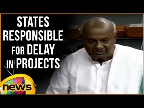 HD Deva Gowda Speech In Parliament | States Are Also Responsible For Delay In Pending Rail Projects