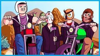 GTA 5 Online Funny Moments Biker Gang Edition! - Bar Fight, Anarchy, and BDBB! (GTA 5 Biker Update)