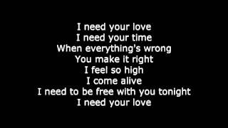 Calvin Harris - I need your love (letra de canción/song lyrics)