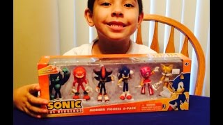 Sonic the Hedgehog Modern Figures Figurines 6 Pack Unboxing