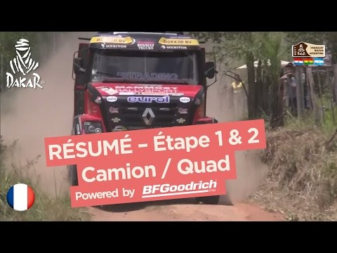 Résumé des étapes 1 & 2 Quad Camion Dakar 2017
