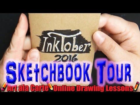 I Survived INKTOBER  Sketchbook Tour