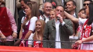 Hau ab, Müller! - Franck Ribery rockt Meisterfeier FC Bayern