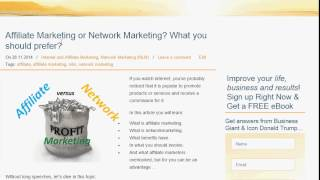 Affiliate Marketing or Network Marketing? What you should prefer?