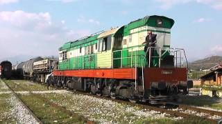 HSH T669 1039 with freight train on Hani i Hotit line Albania (Train 2) long version