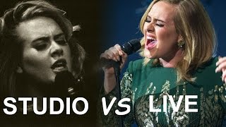 Adele | STUDIO VS LIVE (Expectation vs Reality)