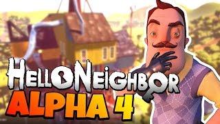 Hello Neighbor Alpha 4 Release Date Secret Revealed! - New Hello Neighbor Alpha 4 Secrets and Map!
