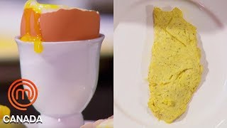 An Omelette, Poached Egg & Soft Boiled Egg In 8 Minutes!   MasterChef Canada   MasterChef World
